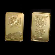 24K Gold überzogene Platte mit deutschem Reichsadler und eisernem Kreuz
