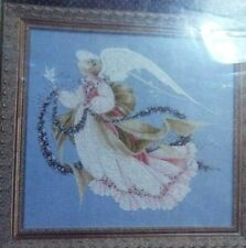 Lavender & Lace Angel Of Summer Complete Cross stitch Kit 32 ct Linen Beads