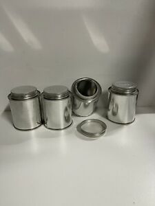 New Paint Mixing Tins With Lids - 250ML With POISON Marking On Screw On Lid.