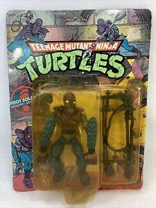 TMNT 1988 FOOT SOLDIER MOC 10 back Teenage Mutant Ninja Turtles Figure Damaged