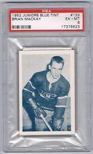1952-53 Juniors Blue Tint Hockey Card Montreal #133 Brian Mackay Graded PSA 6