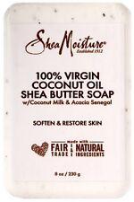 Shea Moisture 100% Virgin Coconut Oil Shea Butter Soap 8 oz (Pack of 3)