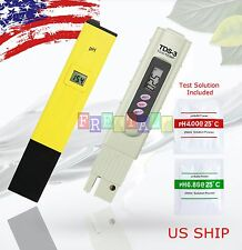 US Digital Ph Meter+TDS Tester Aquarium Pool Hydroponic Water Monitor 0-9999 PPM