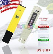 US Digital Ph Meter+TDS Tester Aquarium Pool Hydroponic Water Monitor 0-9999 PPM