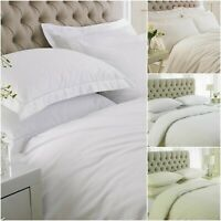 HOTEL QUALITY DUVET SET 100% EGYPTIAN COTTON QUILT COVER DOUBLE KING BEDDING SET