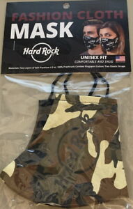 Hard Rock Cafe 2020 CAMO Camouflage Face Mask with HRC LOGO New & Unused