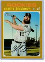 Charlie Blackmon 2020 Topps Heritage 5x7 Gold #420 /10 Rockies
