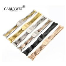 13 17 19 20 22mm Hollow Curved End Solid Screw Link Watch Band Old Style Jubilee