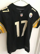 PITTSBURGH STEELERS NIKE ON-FIELD MIKE WALLACE JERSEY #17 - BLACK/HOME - MEDIUM