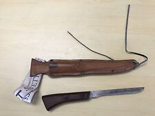 Vintage Berkley Outdoorsman fillet knife in leather sheath Used