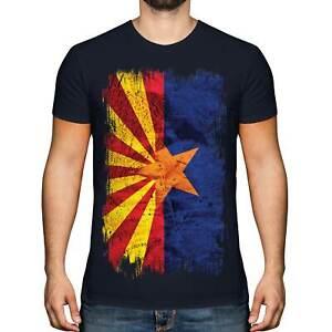 ARIZONA STATE GRUNGE FLAG MENS T-SHIRT TEE TOP ARIZONAN ARIZONIAN GIFT SHIRT