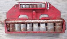 Vintage  MECHANIC TOOLS red WALL hanger SOCKETS