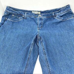 JMS Just My Size Jeans Plus Size 26 Stretch Bootcut Medium Wash Womans 44X31