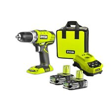 Ryobi One+ 18V Cordless Compact Drill Driver Kit 4x the run-time Two Battery