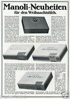 Manoli Zigaretten XL Reklame von 1915 Argument Heliotrop Kasse Werbung Ad