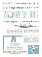 1950 Dow Chemical Ad Douglas C-124 Globemaster II Transport Cargo Plane USAF