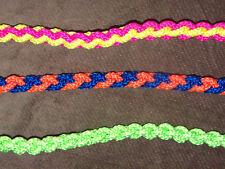 Dog Leash, Slip Lead, Handmade, Braided, Nylon Cord, Colorful