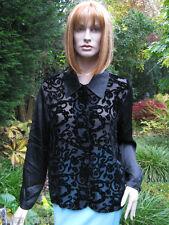 Diane von Fürstenberg Bluse Gr. 40 schwarz Seide  Samt Bluse zum Experimentieren
