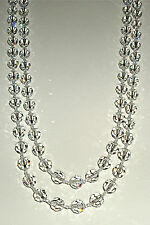 Spectacular Extra Long Non AB Crystal Necklace