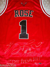 """*DERRICK ROSE SIGNED JERSEY INSCRIPTION """"NBA MVP 2011"""" UDA L.E. OF 101* HUGE SIG"""