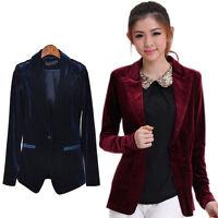 New Wintr  Stylish Women Blazer  Office OL Wear Velvet Blazers Tops Hot Sale