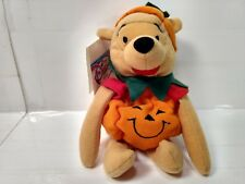 "Winnie The Pooh Halloween Pumpkin Mini Bean Bag 8"" Stuffed Animal t1966"