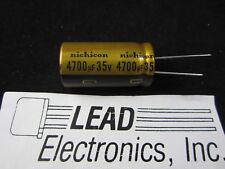 "Nichicon UFW1V472MHD GOLD Audio Capacitor, 4700uF 35V  2018 D/C FREE SHIPPING""US"