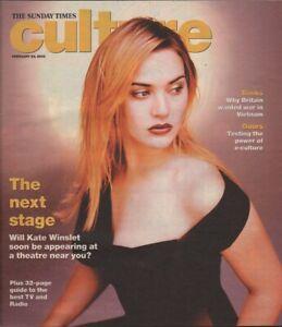 KATE WINSLET - KEANU REEVES - Vintage British CULTURE Magazine 2003