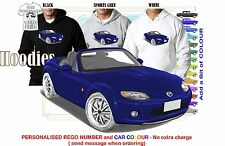 2007 MAZDA MX5 HOODIE ILLUSTRATED CLASSIC RETRO MUSCLE SPORTS CAR