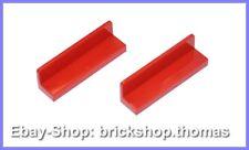 Lego 2 x Bänke Bank Paneel rot (1 x 4 x 1) - 30413 - Panel Red - NEU / NEW