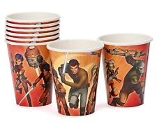 Gemma 8 Pack STAR WARS Party Paper Drinking Cups Birthday Boy Tableware 260ml