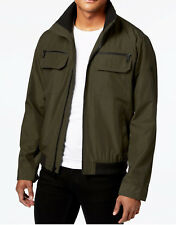 NEW MENS CALVIN KLEIN MICRO GREED WATER / WIND RESISTANT GREEN BOMBER JACKET S