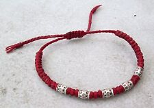 NiCe! Hmong Hill Tribe Unisex Silver & Hemp Adjustable Bracelet