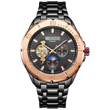 Official B.K Automatic Rose Moonphase Mens Watch Inc Warranty, Tag & Em Boss Box
