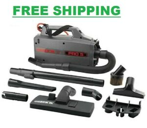 Canister Vacuum Cleaner Handheld Corded Bagged Black Compact Lightweight 120 V