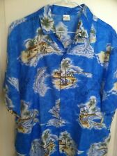 CARIBBEAN Multi-Colors S/S HAWAIIAN  WATER ACTION SHIRT Men L