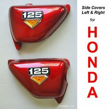 Honda CB125 S CB 125 S 76 77 78 79 Red Side Cover Panel & Emblem Left & Right