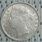 *HIGH Grade* 1889 - Straits Settlements - 10 Cents Victoria Silver #CBUG