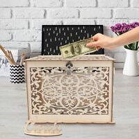DIY Rustic Wedding Card Box with Lock Wooden Gift Box Money Box Reception Decor