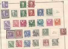 Sweden N^1938-40 hinged & used Coils collection $@ dca622xxbswed