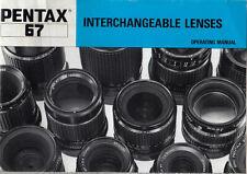 Pentax instruction für Pentax 6x7 Lenses