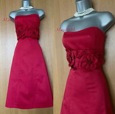 Karen Millen UK 12 Red Stretchable Cotton Strapless Embellished Evening Dress 40