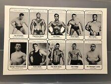 Uncut Sheet Wrestling Cards Gotch Thesz Gama Hackenschmidt Strangler Lewis Rocca