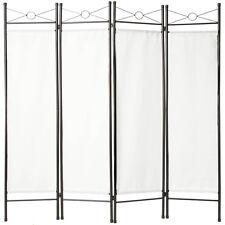 4tlg Raumteiler Trennwand Paravent Umkleide Sichtschutz Spanische Wand Weiß
