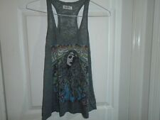 Lauren Moshi Beverly Hill Peace Love Racer Back Tank Top Size XS