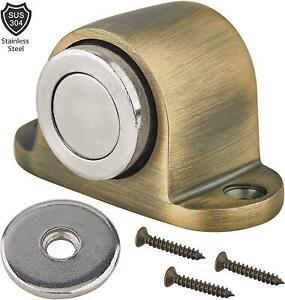 Earl Diamond-Magnetic Heavy Door Stop Catch,Stainless Steel Brushed Door Stopper
