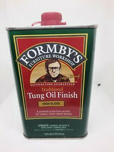 Fomby's Furniture Workshop Traditional Tung Oil Finish High Gloss 16 Fl Oz NEW