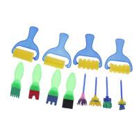 12x Flower Stamp Sponge Brush Set Art Supplies for Kids DIY Paint Creative