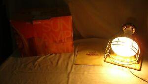 Vintage 1980s Sylvania Sun Lamp Kit Timer 275W Tanning Light Original Box  (JB)