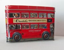 Collectible Churchill'S Confectionery London Airport Transport Double Decker Tin